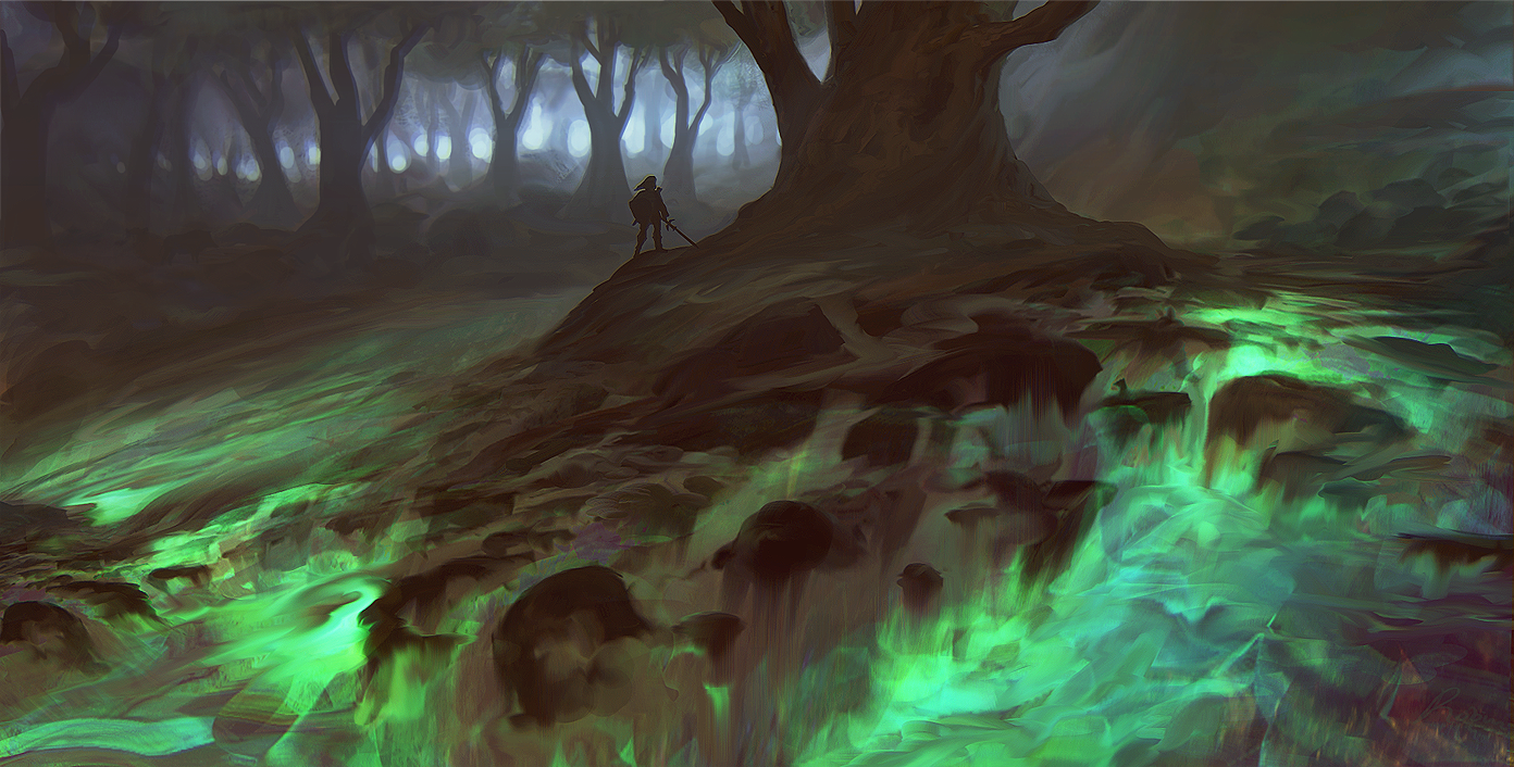 Green Lava green lava forest by l...