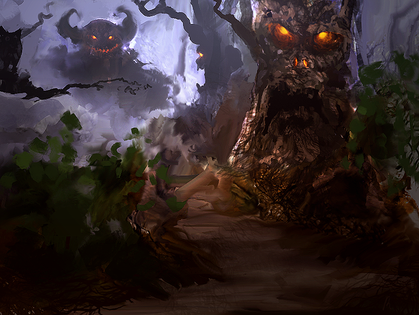 Scary Forest by llRobinll