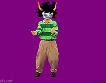 A Homestuck Gif i made DANCE GAMZEE! by Ask-Daisy-The-Hybrid