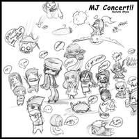 Naruto MJ Concert Chibis by Anglerfish5