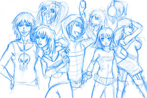 LiS Characters WIP by Anglerfish5
