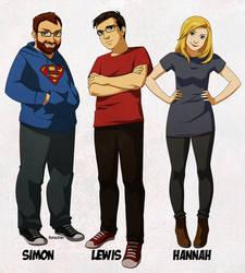 Yogscast trio by ferazhin