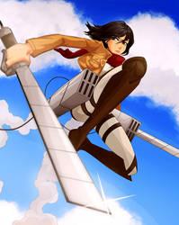 Mikasa Ackerman Teutron style by ferazhin
