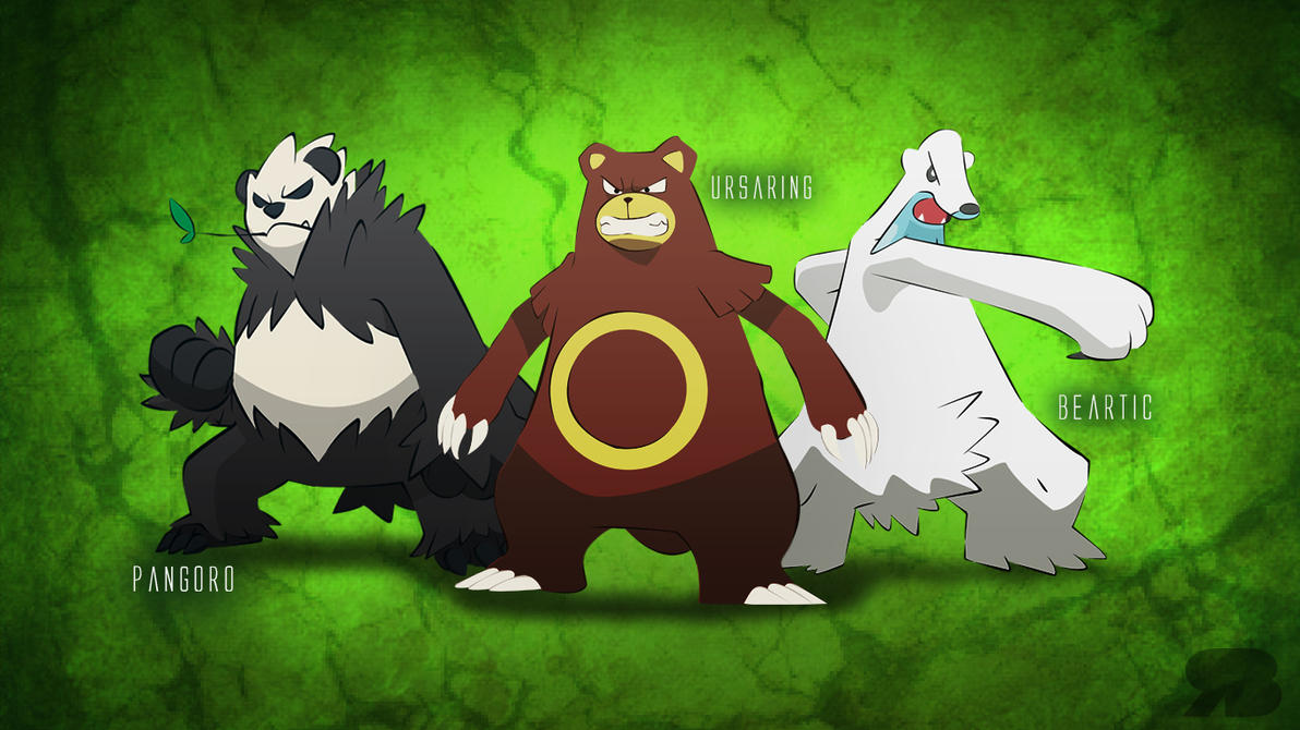 Pokemon Bears Desktop Background by rbfgalguerra on DeviantArt