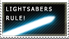 Lightsabers Rule - Cyan by Shantella
