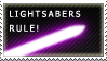 Lightsabers Rule - Purple by Shantella
