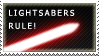 Lightsabers Rule - Red