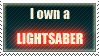I own a lightsaber -red- by Shantella