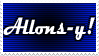 Doctor Who: Allons-y Stamp