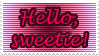 Doctor Who: Hello sweetie Stamp by Shantella