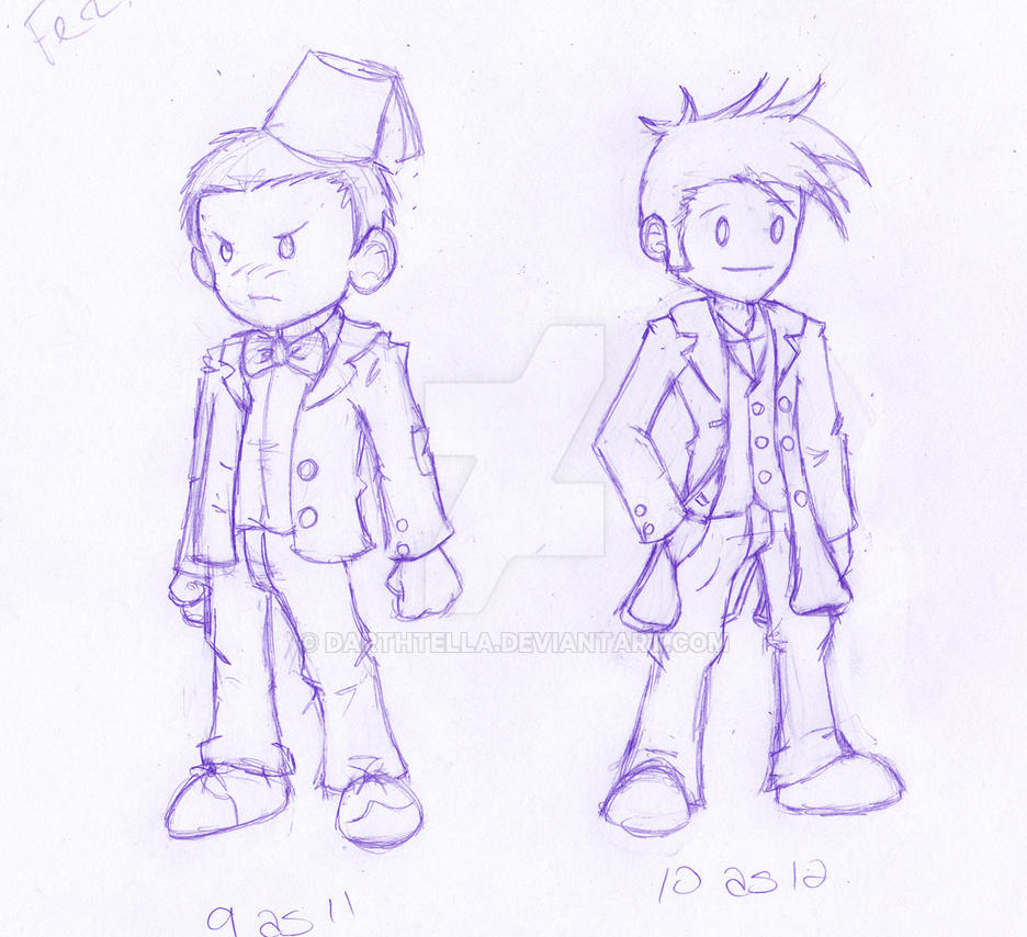DW: Timey-Wimey Costume Swap 9 and 10 *WIP* by Shantella
