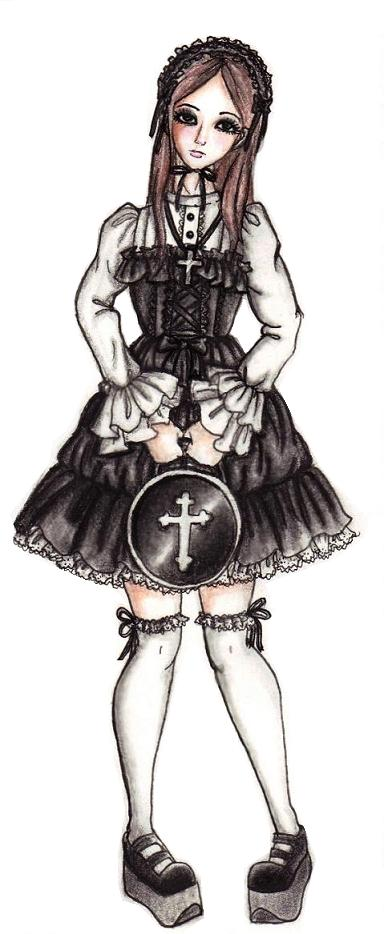 Oldschool gothic lolita by chocolatehomicide