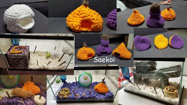 Crochet Mouse Houses
