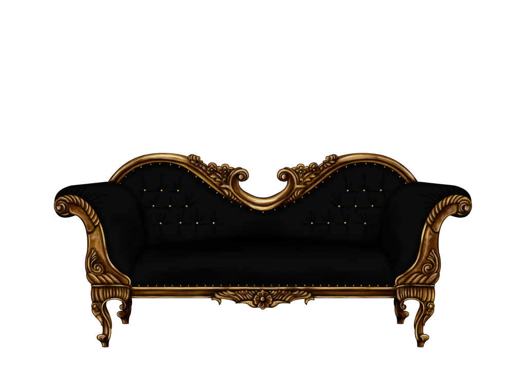 Baroque Sofa In Black Png By Yagellonica On Deviantart