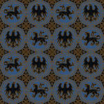Medieval Pattern in Black and Gold
