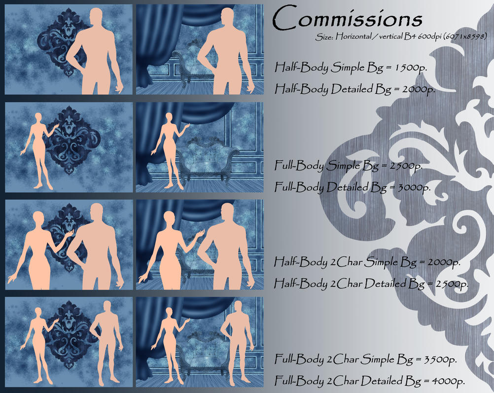 Commission INFO w Pics by Yagellonica
