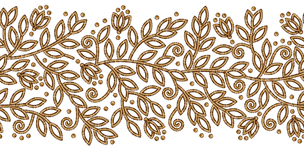 Floral Ribbon GOLD by Yagellonica