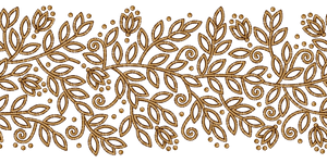 Floral Ribbon GOLD