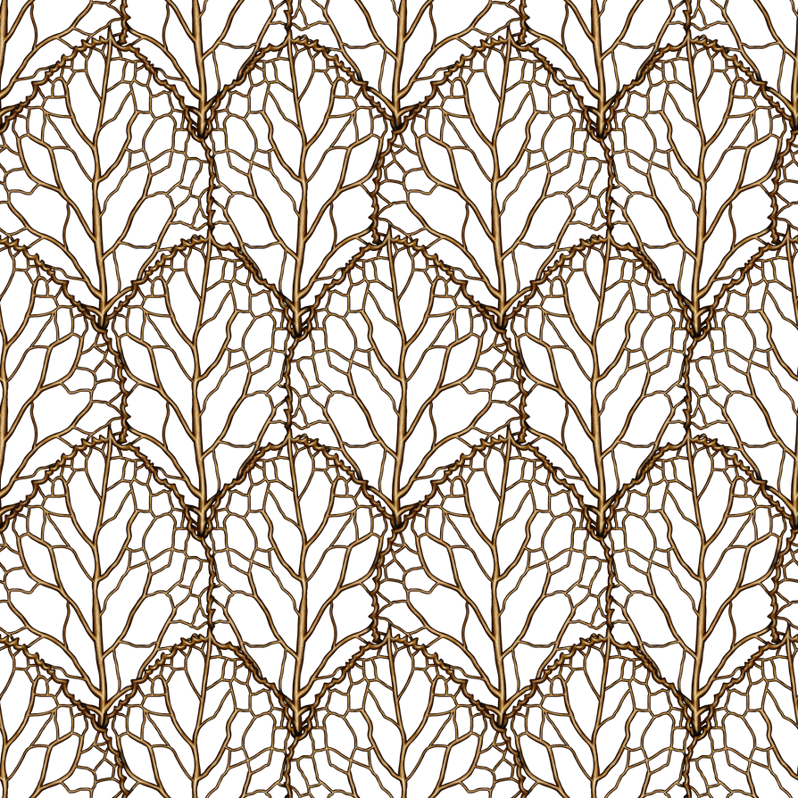 Leaf Pattern Gold by Yagellonica