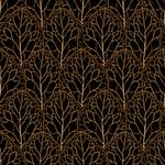 Leaf Pattern Gold n Black
