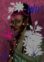 WIP Black Elf Woman