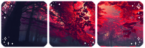 Red leaves l Divider by Lemmi221