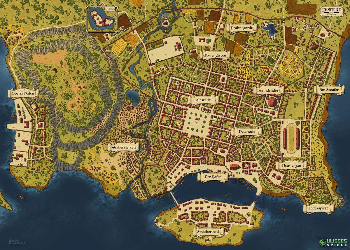 Dsa Karte Bornland.Festum Map By Artbymatthew On Deviantart