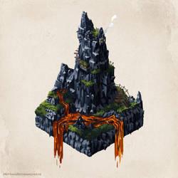 The rock by artbymatthew