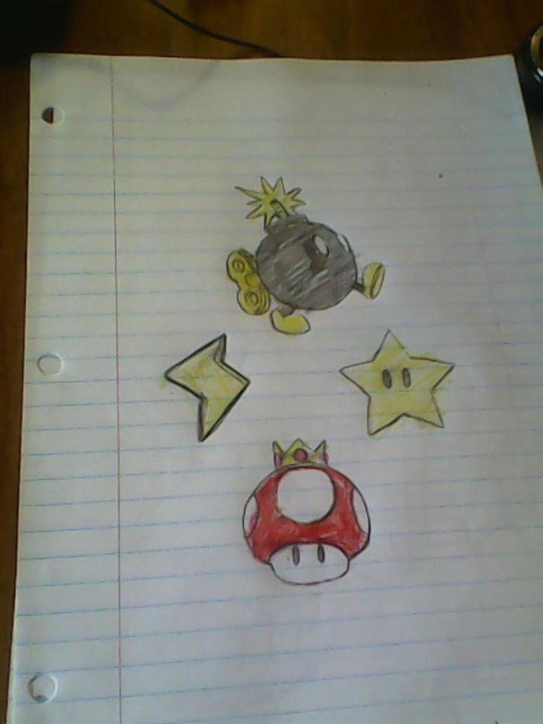 Super Mario items by EvilGirl26