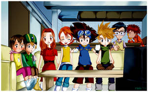 the Chosen Children, Digimon01
