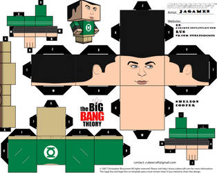 Sheldon Cooper Cubeecraft by JagaMen