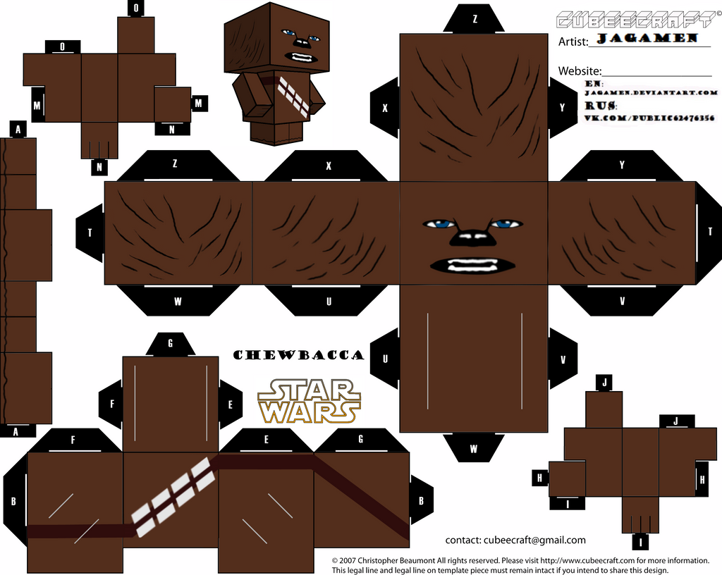 Chewbacca Cubeecraft by JagaMen on DeviantArt