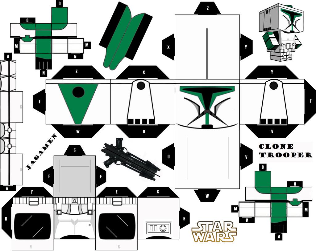 clone trooper cubeecraft by jagamen on deviantart. Black Bedroom Furniture Sets. Home Design Ideas