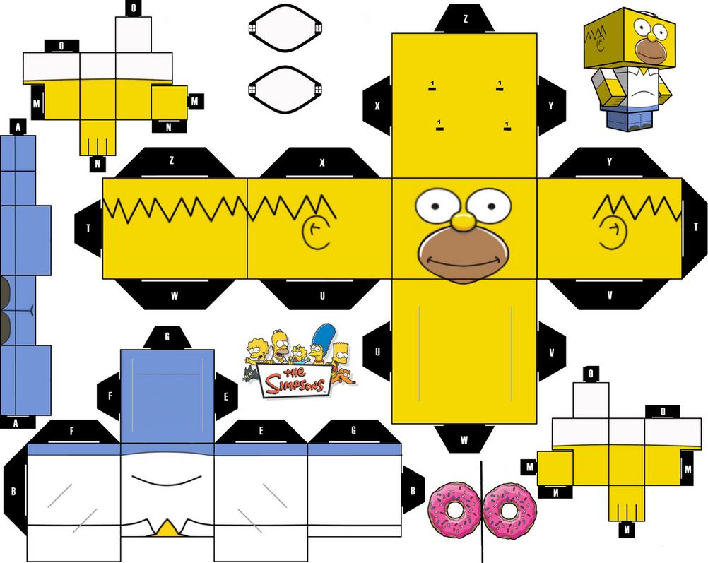 Homer Simpsons cubeecraft by JagaMen