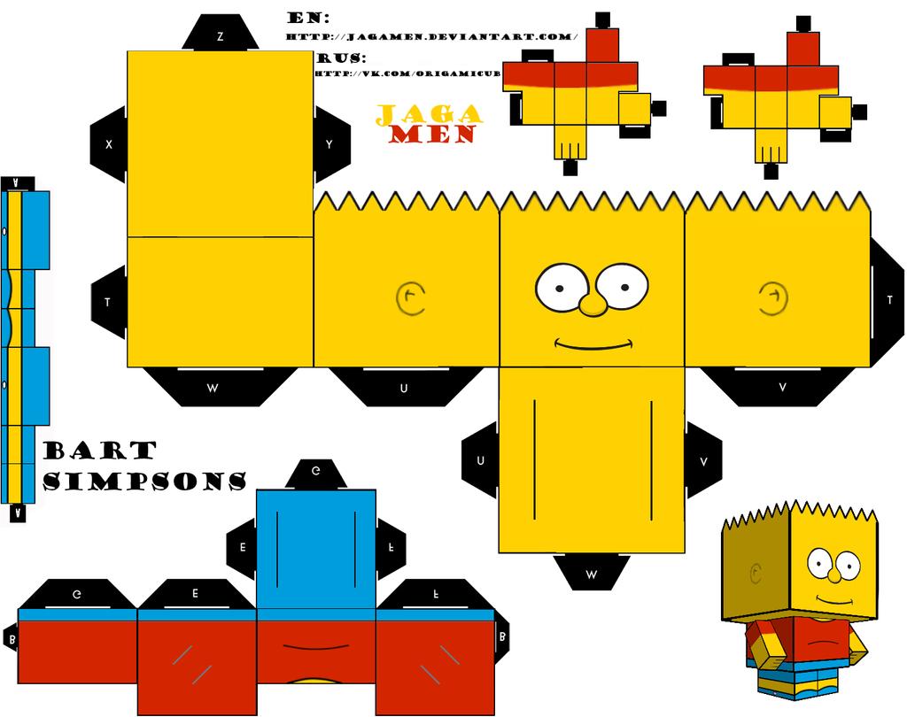 Bart Simpsons Cubeecrat by JagaMen