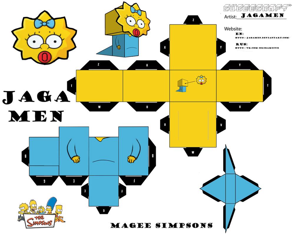 Magee Simpsons Cubeecraft by JagaMen