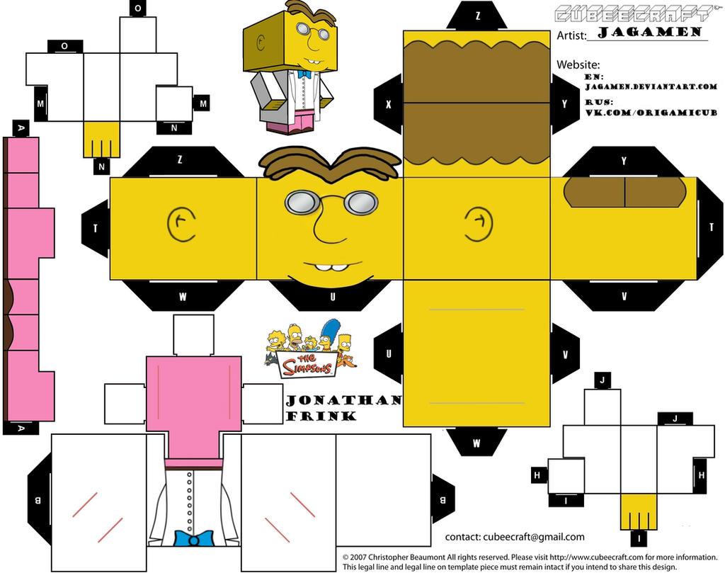 Jonathan Frink Cubeecraft by JagaMen