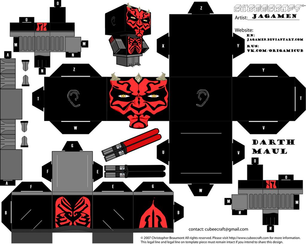 darth maul ver clone wars cubeecraft by jagamen on deviantart. Black Bedroom Furniture Sets. Home Design Ideas