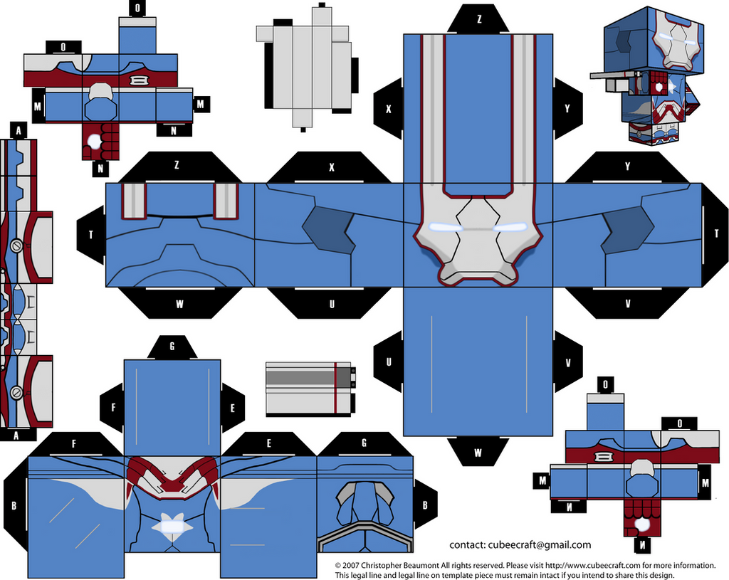Irom Patriot Cubeecraft By Jagamen On Deviantart