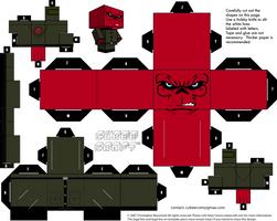Red Skull cubeecraft by JagaMen