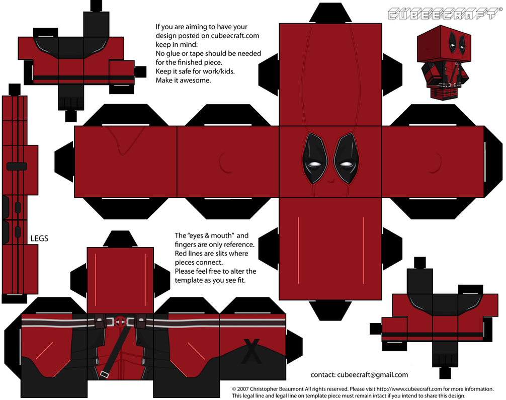 Deadpool Mask Template Costumepartyrun