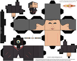 12th doctor who Peter Capaldi cubeecraft by JagaMen