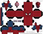 Spiderman Captain America: Civil War Cubeecraft