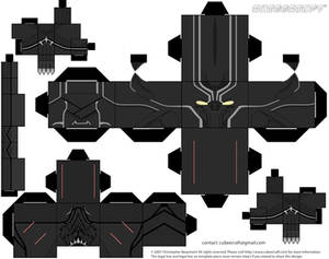 Black Panter Captain America: Civil War Cubeecraft