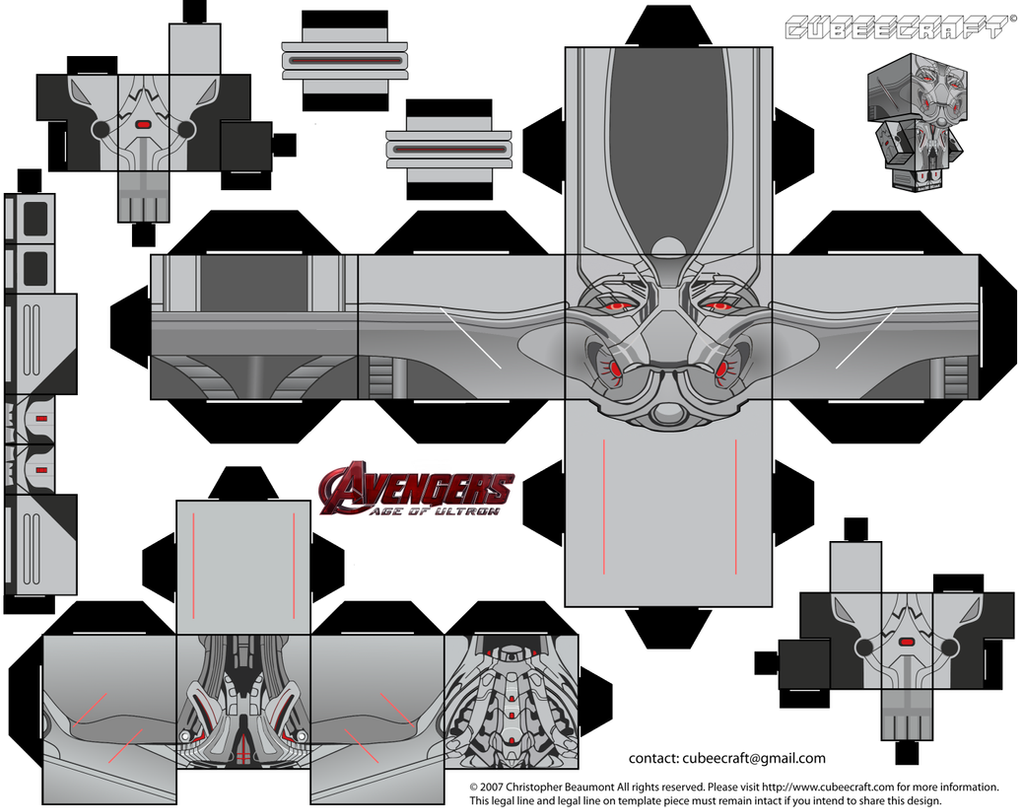 Ultron Cubeecraft by JagaMen on DeviantArt - photo#48