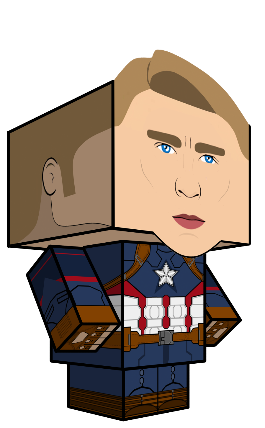 Captain America Cubeecraft by JagaMen