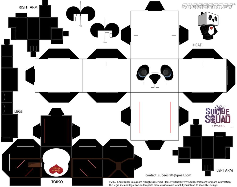 Panda Cubeecraft by JagaMen