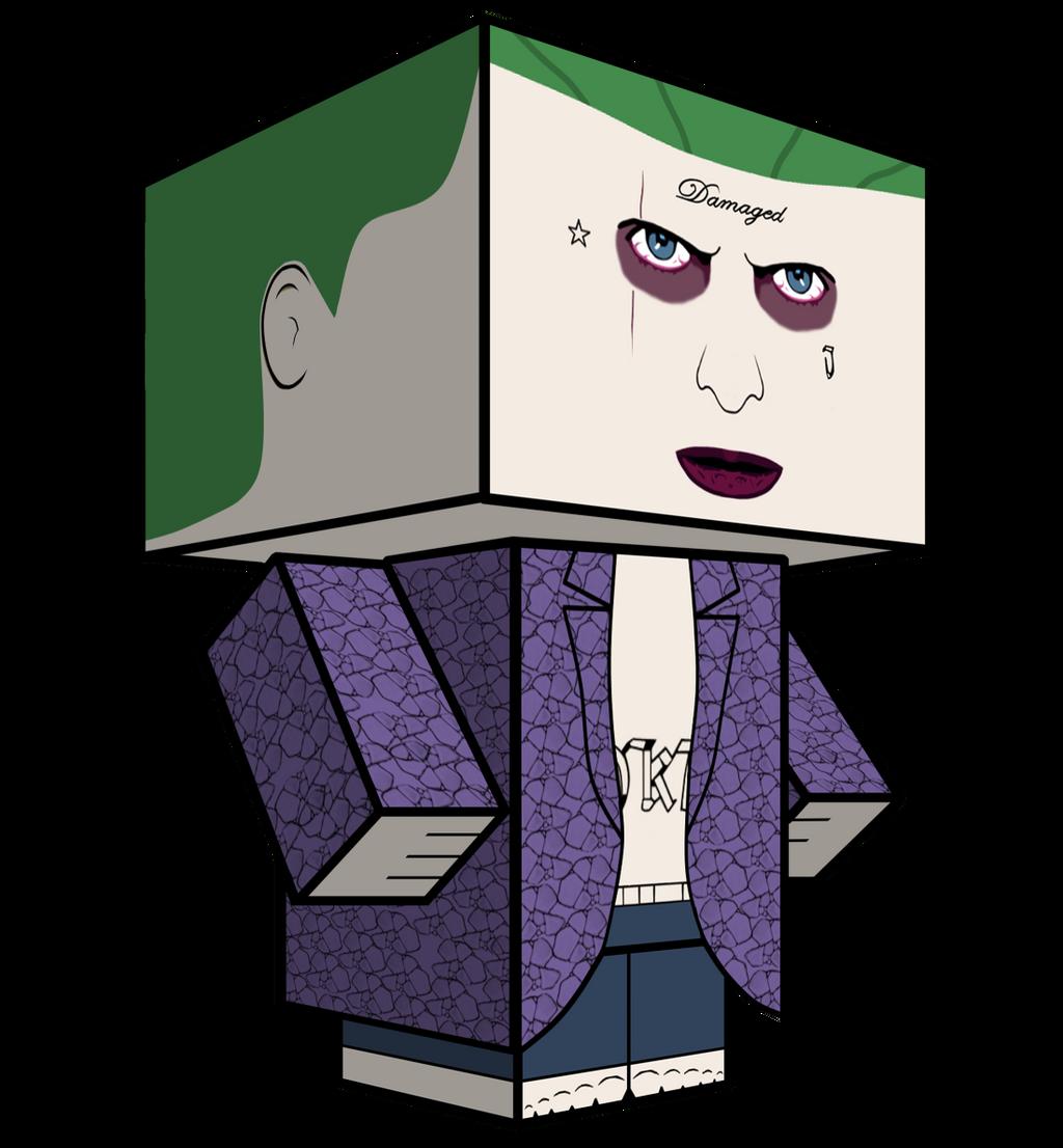 Joker Jared Leto Cubeecraft by JagaMen
