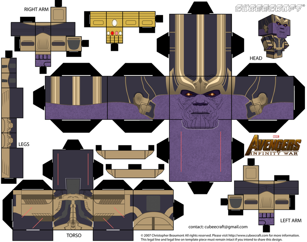 Thanos Cubeecraft by JagaMen