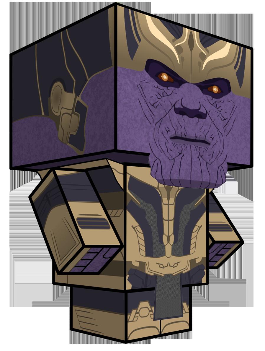 Thanos Cubeecraft by JagaMen